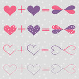 Set with Love Equations Stock Image