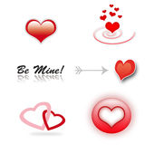 Set of love icons stock photos