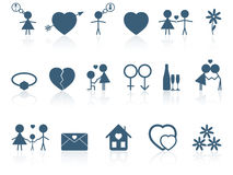 Set of love icons. The set of love icons Royalty Free Stock Photos