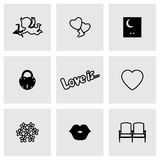 Set of love icons. Vector illustration Royalty Free Stock Photos