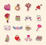 Set of love icons, vector illustration. Stock Photo