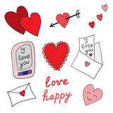 Set of love icons Stock Images