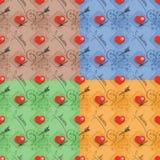 Set of love seamless pattern Stock Image