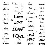 Set of love signs Stock Image