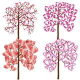 Set of love trees Royalty Free Stock Photography