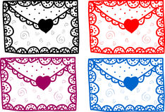 Set of love Valentine message Royalty Free Stock Photos