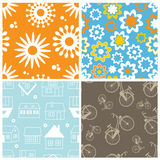 Set of lovelyfresh  seamless pattern Stock Image