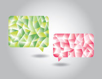 Set of low poly geometric speech bubbles Royalty Free Stock Image