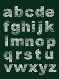 Set of lowercase Alphabet in Chalk Style Royalty Free Stock Image