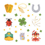 Set of the Lucky Charms icons Stock Photo