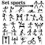 Set ludzie bawić się sporty Zdjęcie Royalty Free