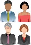 Set ludzie biznesu ikon [4] ilustracji