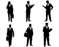 Set ludzie biznesu sylwetek Obrazy Stock