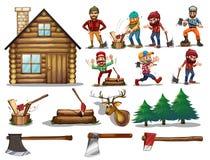 Set of lumber Stock Photos