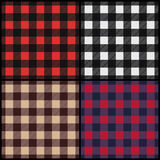 Set of lumberjack plaid seamless patterns Stock Photo