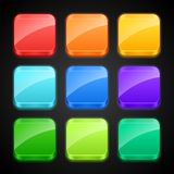 Set of luminous color apps icons Stock Photos