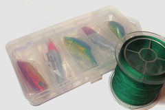 Set lures in a box Royalty Free Stock Photo