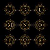 Set luxury  alphabet. Letters alphabet with floral. Classic  logo alphabet. Luxury Font. Alphabet Letters. Vector illustration, Eps8. eps10 Stock Image