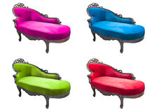 Set of luxury armchair isolated Stock Image