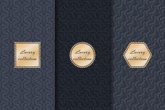 Set of luxury backgrounds Stock Images