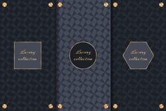 Set of luxury backgrounds Royalty Free Stock Photo