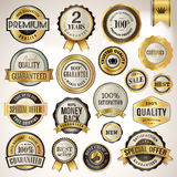 Set of luxury badges and stickers Stock Images