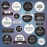 Set of luxury badges and stickers Stock Photography