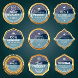 Set of luxury badges. Set of two colored luxury badges Stock Images