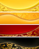 Set of Luxury banners. Computer illustration, isolated on the white Stock Images