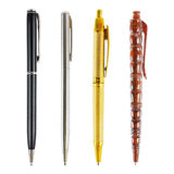 set of luxury business pens isolated on white Royalty Free Stock Image
