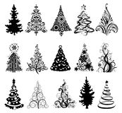 Set of Luxury Christmas Trees. Royalty Free Stock Photo