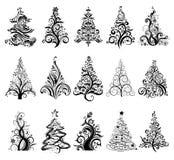 Set of Luxury Christmas Trees. stock illustration
