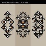 Set Luxury decoration template japanese, calligraphic, arabian, aztec elegant ornament. Business sign, identity for Royalty, Bouti Stock Image