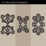Set Luxury decoration template japanese, calligraphic, arabian, aztec elegant ornament. Business sign, identity for Royalty, Bouti Royalty Free Stock Images