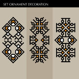 Set Luxury decoration template japanese, calligraphic, arabian, aztec elegant ornament. Business sign, identity for Royalty, Bouti Stock Photography