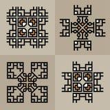 Set Luxury decoration template japanese, calligraphic, arabian, aztec elegant ornament. Business sign, identity for Royalty, Bouti Stock Photos