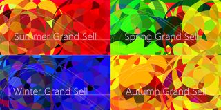 Set of Luxury Four season banners, New Year banner template with Royalty Free Stock Photos