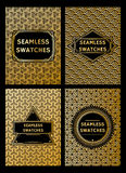 Set of luxury geometric patterns for the premium package Stock Photography