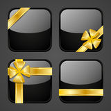 Set of luxury gift apps Royalty Free Stock Images