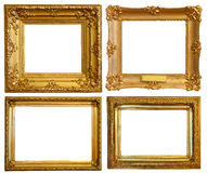 Set of  Luxury gilded frames Stock Image