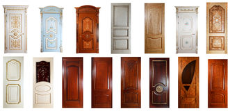 Set of luxury handmade doors Stock Photos