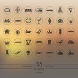 Set of luxury icons Stock Photo