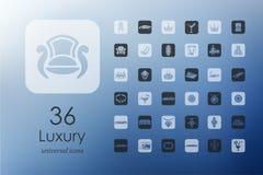 Set of luxury icons Stock Image