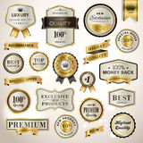 Set Luxury Labels And Ribbons Royalty Free Stock Photography