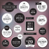 Set of luxury labels and badges vector illustration