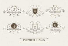 Set of luxury logo and monogram templates. Royalty Free Stock Photography