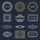 Set Luxury Logos template flourishes calligraphic. Line Royalty Free Stock Photos