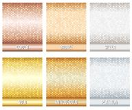 Set of luxury metallic backgrounds Royalty Free Stock Photography