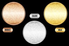 Set of luxury metallic backgrounds Stock Photo