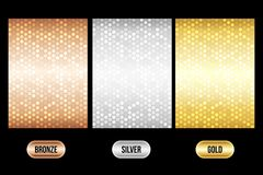 Set of luxury metallic backgrounds Royalty Free Stock Photos